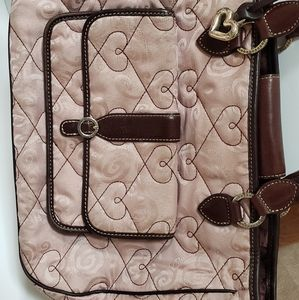 Brighton Quilted and leather hand bag